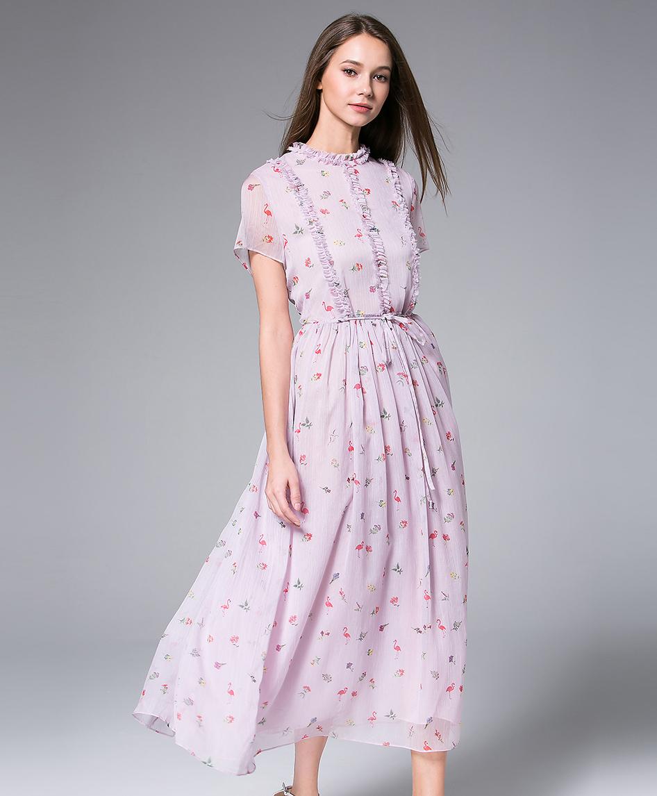 c5c3bee67f2a Lavender Printed Chiffon Maxi Dress - Dress - MSENVY CORP